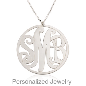 Initials name personal jewelry