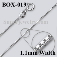 Box 019 Sterling Silver Chain