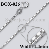 Box 026 Sterling Silver Chain