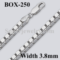 Box 250 Sterling Silver Chain