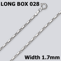 Long Box 028 Sterling Silver