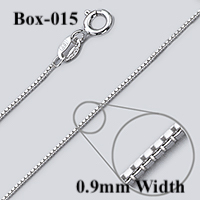 Box-015 Sterling silver chain