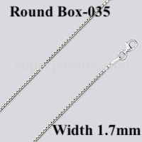 Round Box 035 Sizes Sterling Silver